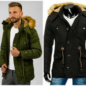 Мужская зимняя теплая куртка парка
