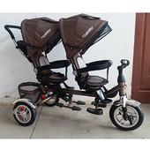 Турбо Трайк для двойни близнят М 3116 велосипед двухместный Turbo trike