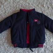 Утеплённая куртка-пальто для мальчика 18-24 мес. Отличное состояние.