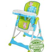 Лунтик стульчик для кормления детский на колесиках
