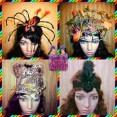 Головные уборы на Halloween, Новогодний карнавал. Мини-шляпки
