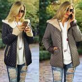 Демисезонная женская теплая куртка