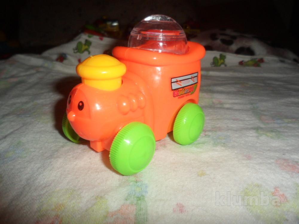 Заводной паровозик на веревочке фото №1
