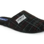 100-EU-1Q-014 тапочки мужские паркетные, фетровые, материал- Фетр цвет - черный Inblu Инблу