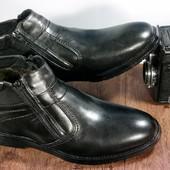 Классические кожаные ботинки только 40 рр, распродажа остатка