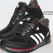 Мужские зимние кроссовки Adidas, черные и синие