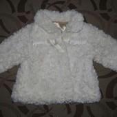 Шуба пальто куртка  (шубка) George на 6 - 9 місяців. ріст 68 - 74 см