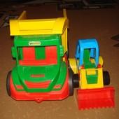 Машина и бульдозер
