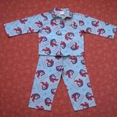 Байковая пижама Человек-паук на 4-5 лет, б/у. Длина штанов 60 см, шаговый 37 см. Кофта длина 40 см,