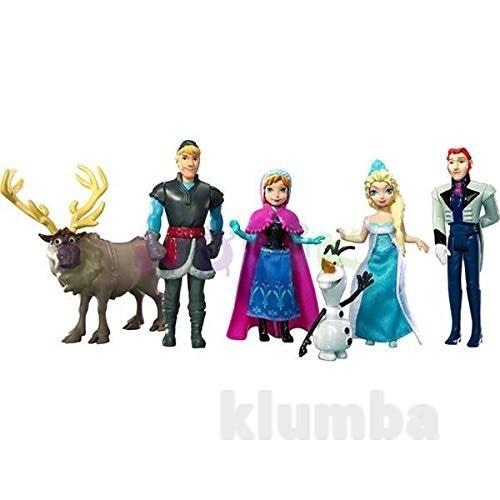 Набор frozen мини-куколок эльза, анна, кристофф, ганс, свэн и олаф фото №1