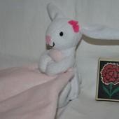 Впитывающий платочек полотененичко с зайкой зайчиком
