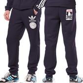 Мужские спортивные брюки с лампасами и принтом , теплые