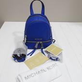 Кожаный мини рюкзак Michael Kors electric blue оригинал