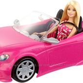 Barbie Гламурный кабриолет Барби и кукла в наборе. В наличии