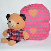 Детский рюкзак с плюшевой игрушкой