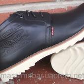 зимние кожаные мужские ботинки Код: 32 W