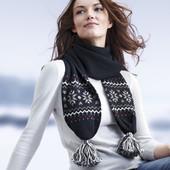 Теплый шарф с узором от TCM Tchibo, Германия