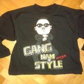 Прикольный свитшот кофта свитер  с Psy! На 2-3 года