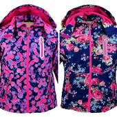 Детская демисезонная куртка парка на флисе 134-158