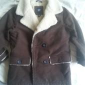 Куртка пальто дубленка искусственная Gap 6-7 лет