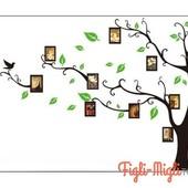 Интерьерные наклейки на стену, виниловые наклейки на стену дерево, наклейки под фотографии