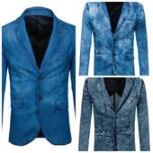 Мужской джинсовий пиджак
