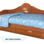 Гарантия 2 года! Детский диван 2 ящика 70x140 см, декор на выбор, укр. производство