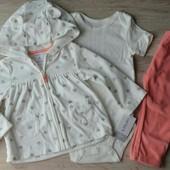 Детский костюмчик набор 3-ка на девочку флисовый Carters