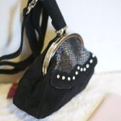 Экслюзивная женская маленькая сумка,театральная ,вечерняя  Diamond натуральный замш новая в наличии