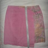 264.юбка вельветовая с вставкой в отличном состоянии