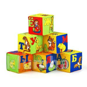 Кубики мягкие русский алфавит 6 шт 025 фото №1