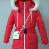 Зимнее пальтишко на девочку, разные цвета.