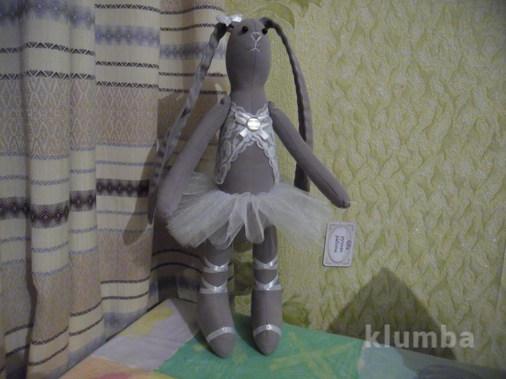 Мягкая игрушка зайка - балерина фото №1