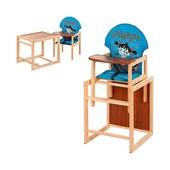 Стульчик для кормления М V-010-25-2, трансформер, ремни безопасности, большая спинка, деревянный, го