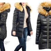 Скидка! Женская куртка пуховик зимняя мех енота