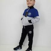 Детский спортивный костюм BMW Серо-синий 104-152 см