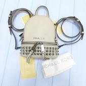 Кожаный мини рюкзак Michael Kors cement xxs оригинал