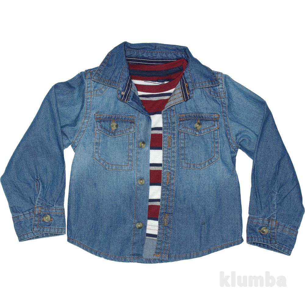 Рубашка primark с футболкой. 68, 72р фото №1