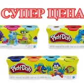 акция Плей До набор пластилина из 4х банок по 112г. Play Doh (B5517) Hasbro плей-дох