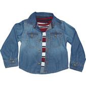 Рубашка Primark с футболкой. 68, 72р