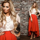 Красная юбка,длинная юбка,женская юбка
