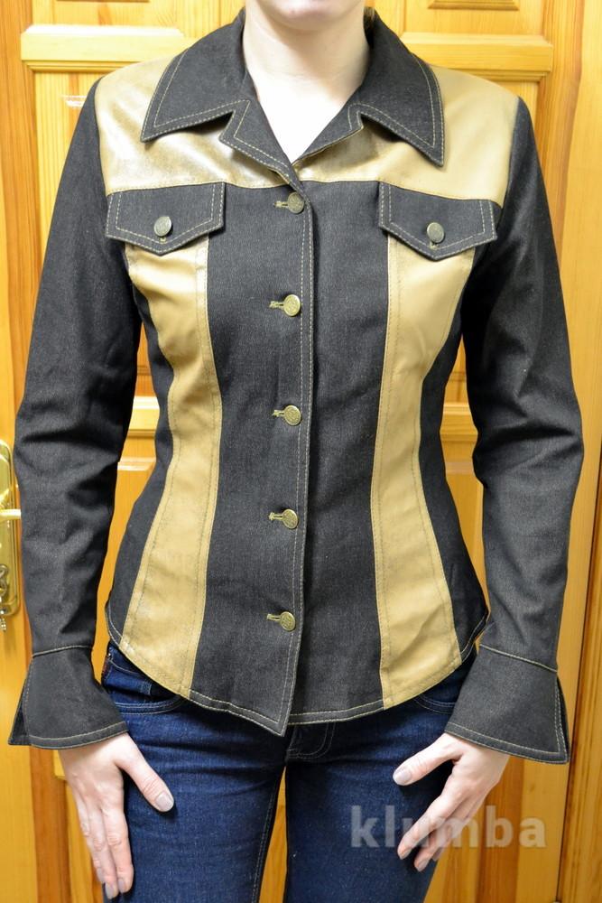 Джинсовый пиджак пані стиль р.м фото №1