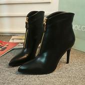 Шикарные ботинки из кожы или замша. Реплика Christian Louboutin