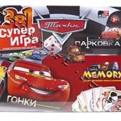 Danko Toys Настольная стратегическая игра Тачки 3 в 1