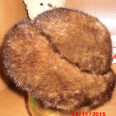 Модельная женская норковая шапка