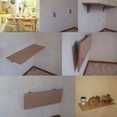 Раскладные обеденные кухонные столы трансформеры для маленькой кухни