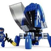 Конструктор для мальчиков Синяя космическая ракета, 124 дет., фигурки, лего-подобный, арт.25371