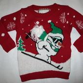 Новогодний свитер на мальчика 4-5лет