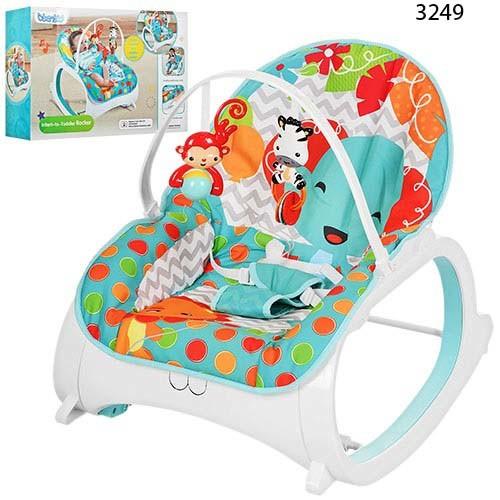 Шезлонг качалка Бемби 3248 детский с вибро режимом Bambi кресло 3249 фото №1