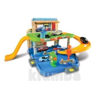 Игровой набор - гараж (2 уровня, 1 машинка 1:43) фото №1